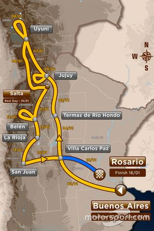 13. Etappe: Villa Carlos Paz - Rosario