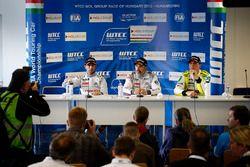 Press conference: Jose Maria Lopez, Citroën C-Elysee WTCC, Citroën World Touring Car team, Yvan Muller, Citroën C-Elysee WTCC, Citroën World Touring Car team, Hugo Valente, Chevrolet RML Cruze TC1, Campos Racing