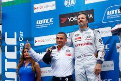 Podium: second place Yvan Muller, Citroën C-Elysee WTCC, Citroën World Touring Car team