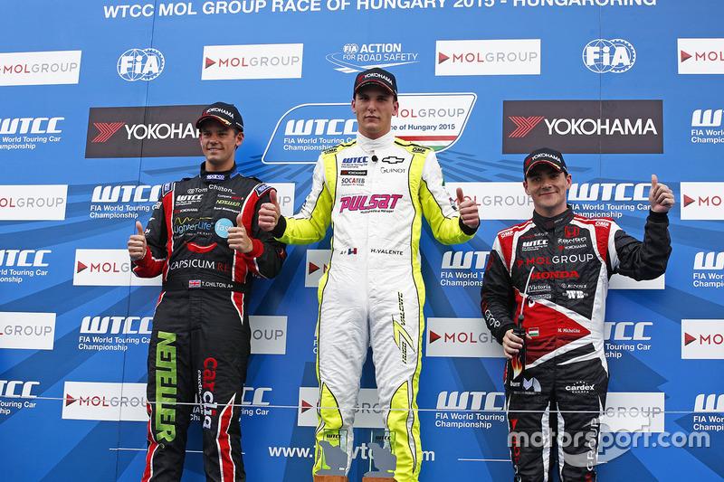 Podium: Hugo Valente, Chevrolet RML Cruze TC1, Campos Racing, Norbert Michelisz, Honda Civic WTCC, Z