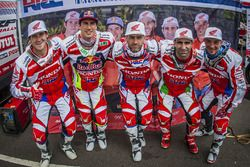 Les pilotes Honda officiels