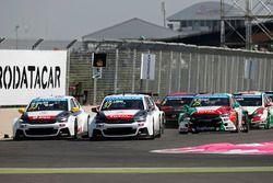 Ma Qing Hua, Citroën C-Elysée WTCC, Citroën World Touring Car team and Jose Maria Lopez, Citroën C-E