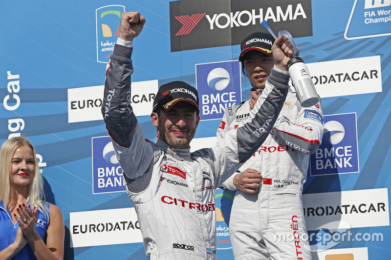 Podium: winner Jose Maria Lopez, Citroën C-Elysee WTCC, Citroën World Touring Car team