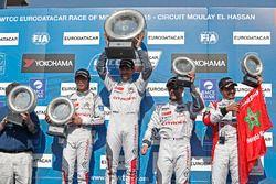 Podium: winner Jose Maria Lopez, Citroën C-Elysee WTCC, Citroën World Touring Car team, second place