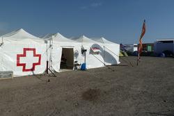 La tente médicale