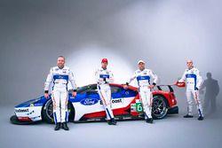 Olivier Pla, Stefan Mücke, Andy Priaulx, Marino Franchitti, Chip Ganassi Racing Ford GT drivers
