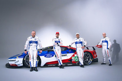 Olivier Pla, Stefan Mücke, Andy Priaulx, Marino Franchitti, Chip Ganassi Racing Ford GT drivers