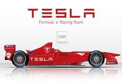 Tesla Motors, rendering Formula E