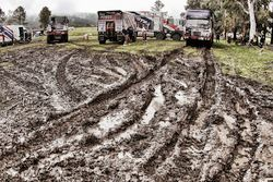 الطين على مسارات بيفواك