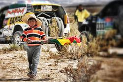 Un jeune fan bolivien