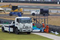 #99 Eurasia Motorsport Oreca 03R Nissan: William Lok, Nick de Bruijn, Richard Bradley crash