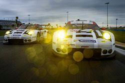 #911 Porsche Team North America Porsche 911 RSR : Nick Tandy, Patrick Pilet, Kevin Estre, #912 Porsche Team North America Porsche 911 RSR : Michael Christensen, Earl Bamber, Frédéric Makowiecki