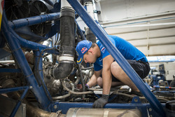 Ayrat Mardeev of Team KAMAZ Master works  during the rest day of Rally Dakar