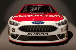 The 2016 Ford Fusion of Ryan Blaney, Wood Brothers Racing