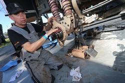 Team de Rooy mecánicos trabajando
