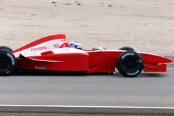 First lap of Toyota Formula One car driven by Mika Salo