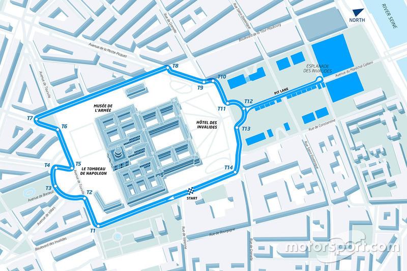 Tracé de l'ePrix de Paris