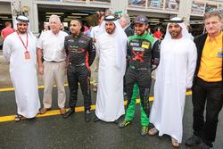 Khaled Al Qubaisi and Abdulaziz Al Faisal with guests
