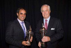 Juan Pablo Montoya ve Roger Penske ve Baby Borg kupası