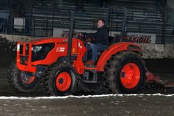 Tony Stewart does some track maintenance