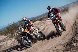 #3 KTM: Toby Price and #47 Honda: Kevin Benavides
