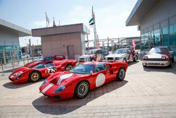 Vintage cars in the paddock