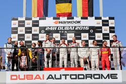 Podium 24h Dubai: 2. #16 Black Falcon Mercedes SLS AMG GT3: Adam Christodoulou, Oliver Webb, Patrick