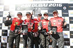 Winner Pro-AM #10 Hofor-Racing Mercedes SLS AMG GT3: Christiaan Frankenhout, Kenneth Heyer, Roland Eggimann, Chantal Kroll, Michael Kroll