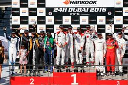 Podium of the 24h Dubai