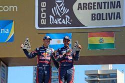 2. in der Auto Kategorie, Al-Attiyah und Matthieu Baumel
