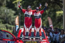 Третье место в автомобильном зачёте - Жиньель де Вильерс и Дирк фон Цицевиц