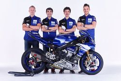 David Checa, Louis Rossi, Niccolo Canepa with Christophe Guyot, GMT94 team manager