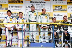 Podio, 2do Sebastian Asch, Luca Ludwig, Team Zakspeed Mercedes-Benz SLS AMG GT3, 1er Jereon Bleekemo
