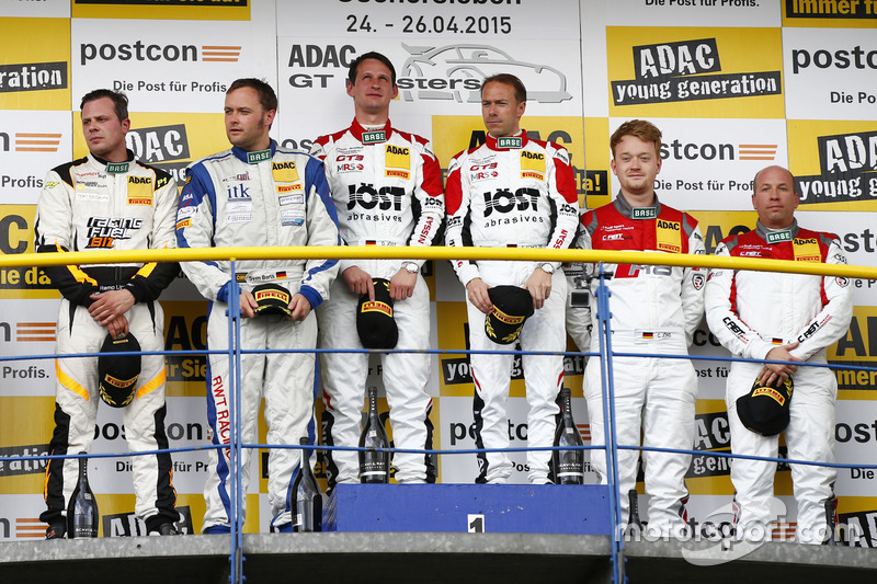 AM Podium: 2nd Remo Lips, Sven Barth, RWT Racing Team Corvette Z06.R GT3, 1st Dominic Jöst, Florian