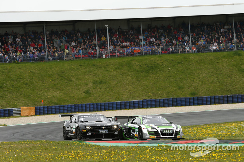 Rahel Frey, Philip Geipel, YACO Racing Audi R8 LMS ultra and Tomas Enge, Oliver Gavin, Reiter Engine