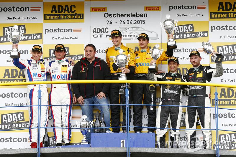 Podium, 2nd Sebastian Asch, Luca Ludwig, Team Zakspeed Mercedes-Benz SLS AMG GT3, 1st Christian Enge