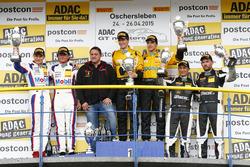 Podio, 2do Sebastian Asch, Luca Ludwig, Team Zakspeed Mercedes-Benz SLS AMG GT3, 1er Christian Engel