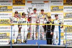 AM-Podium, 2nd Dominic Jöst, Florian Scholze, MRS GT-Racing Nissan GT-R NISMO GT3, 1st Marc Gassner, Florian Strauss, MRS GT-Racing Nissan GT-R NISMO GT3, 3rd Jakub Knoll, Lennart Marioneck, Senkyr Motorsport BMW Z4