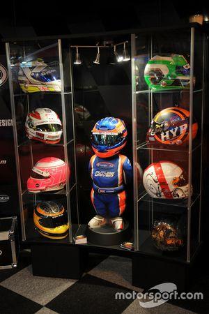 Helmet and figure display