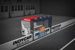 Solar powered IndyCar pit box