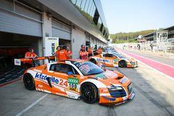 #100 kfzteile24 MS Racing Audi R8 LMS ultra: Daniel Dobitsch, Edward Sandström