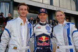 Pierre Casiraghi, Sébastien Ogier, Caroline Woszniacki