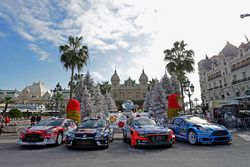 The 2016 factory entries on display on the Casino square