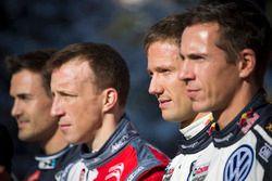 Daniel Sordo, Hyundai Motorsport, Kris Meeke, Abu Dhabi Total WRT, Sébastien Ogier et Julien Ingrassia, Volkswagen Motorsport