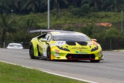 #77 Team Starspeed Racing Lamborghini Huracan LP620-2 Super Trofeo : Yoon Sanghwi Rick, Wong Chong Yau Runne