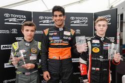 Winner Jehan Daruvala, second place Lando Norris, third place Antoni Ptak