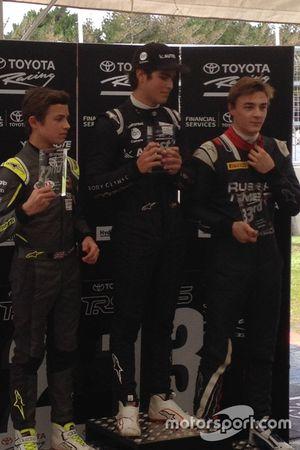 Pódio: Vencedor Pedro Piquet, L. Norris em segundo e A. Markelov em terceiro