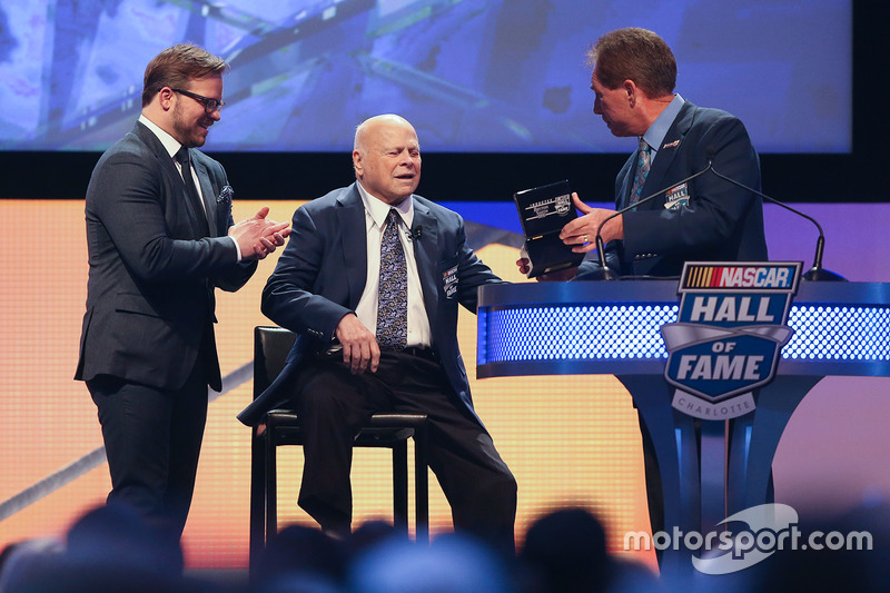 Marcus Smith and his father, Bruton Smith and Darrell Waltrip