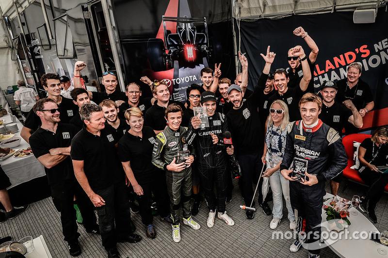 Winnaar: Pedro Piquet, tweede Lando Norris, derde Artem Markelov