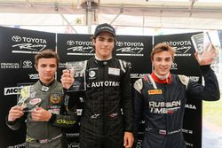 Podium: winner Pedro Piquet, second place Lando Norris, third place Artem Markelov